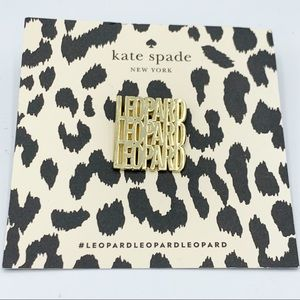 Kate Spade ♠️ Leopard Pin/Brooch New